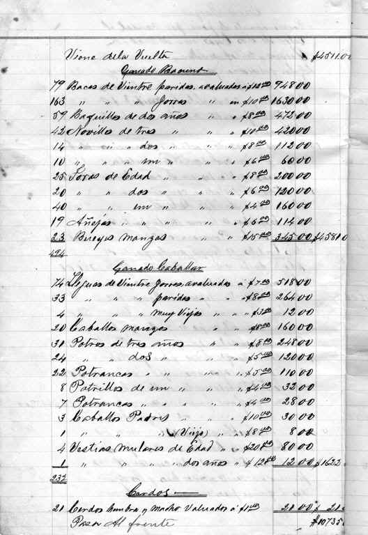 Page 8 of Inventario (click to enlarge)